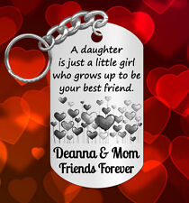 Hearts * Keychain Gift for DAUGHTER, Personalized for FREE with NAMES, Engraved