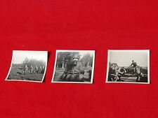 WW2 Three Combat Soldier Photographs GERMAN INFANTRY TROOPS Russian Front VG