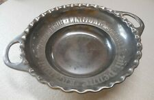 "Lenox Large 15"" Metal Pasta Salad Serving Bowl Butler's Pantry Handled Ssr"