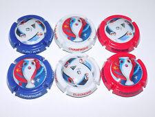 SERIE DE 6 CAPSULES DE CHAMPAGNE - VEUVE ELEONORE (Euro 2016)
