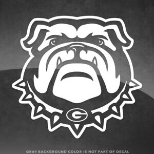 """Georgia Bulldogs Logo Vinyl Decal Sticker - 4"""" Size and Up - More Colors!"""