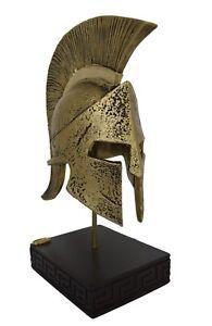 Leonidas Helmet king Spartan Hero alabaster sculpture