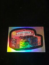 2006 TOPPS WACKY PACKAGES ANS3 3 RAINBOW FOIL STICKER THOMAS THE TRAIN WRECK F5