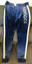 Girls Justice Jogger Blue Velour With Gold Size 22 Plus Soccer Active Nwt