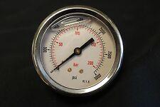 "Generic MPG-1P-3000-DN Liquid Filled Pressure Gauge 1/4"" NPT KI 1.6 NEW"