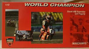 122 991211 DUCATI 996 SUPERBIKE CARL FOGARTY WORLD CHAMPION 1999