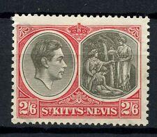 St. Kitts-Nevis 1938-50 KGVI SG#76 2s6d Black & Scarlet P13x12 Ord Paper#A52896