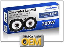 "Chevrolet Lacetti Rear Door speakers Alpine 13cm 5.25"" car speaker kit 200W Max"