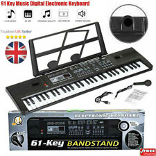 More details for musical keyboard electronic digital piano 61 key adults beginner with stand ptuk