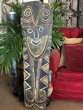 Old Papua New Guinea Upper Sepik River Sago Bark Interior Roof Panel…