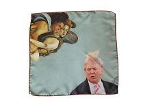 The Wardrobe: Pocket Square Botticelli vs. Trump', pure silk
