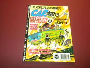 CARTOONS magazine - 1990 August - CAR TOONS - hot rods racing cars PETERSEN