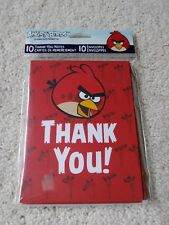 American Greetings Thank You Card & Envelope, Angry Birds Pattern, 10 Count