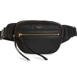 Tory Burch NEW Perry Black Nylon Adjustable Belt Bag Zipper $198 Tag Authentic