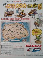 Gleem Toothpaste Print Ad Original Rare Vtg 1950s Contest Carnation Milk