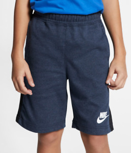 Nike Shorts Big Boys Small Blue Authentic Sportswear Advance Soft Cotton 7 Inch