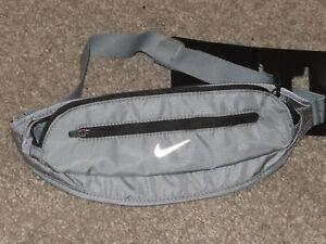 Nike Running Dual Pocket Waist Pack Running Belt Gray