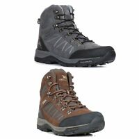 Trespass  Chavez Mens Mid Cut Hiking Boots In Grey & Brown
