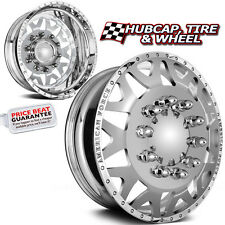 "AMERICAN FORCE BAUS 22.5""x8.25 POLISH DUALLY WHEELS RIMS 8 LUG 4 FORGED/2 STEEL"