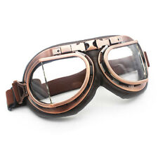 Retro Vintage Aviator Pilot Motorcycle Cruiser Scooter Biker Goggles For Honda