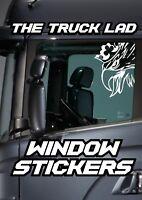 SCANIA GRIFFIN WINDOW VINYL STICKER X2 SCANIA VABIS TOPLINE V8 STREAMLINE LORRY