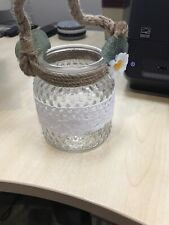 6 VINTAGE STYLE DECORATIVE JARS WEDDING CENTER PIECES VASES CANDLES  (NO RETURN)