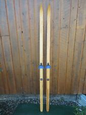 """BEAUTIFUL Vintage Wooden 74"""" Long Snow Skis Old Wood Finish"""