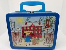 Madeline Lunch Box Schylling Collection Keepsake 1997 Tin with Blue handle