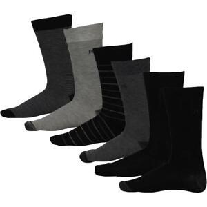 Perry Ellis Portfolio Mens 6 Pack Striped Moisture Wicking Dress Socks BHFO 6058