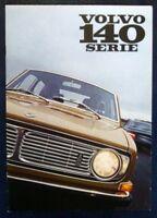 VOLVO 140 SERIES CAR SALES BROCHURE AUGUST 1969 (DUTCH TEXT).