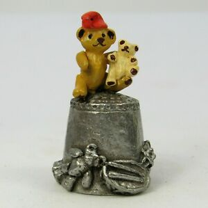 PEWTER THIMBLE TEDDY BEARS DESIGNED BY STEPHEN FROST, WARWICK STUDIOS