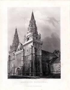 1875 Aufdruck~Aberden Kathedrale~Schottische Geschichte Schottland