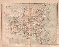 1858 British Empire India Mappa ~ Asia ~ Arabia Russo Empire Cina Giappone Ecc.