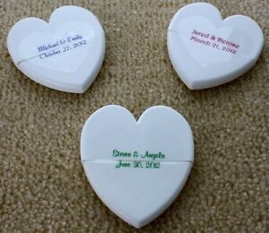 90 Custom Personalized Wedding Clear Glossy Heart Shaped Stickers Seals Labels