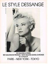 PUBLICITE ADVERTISING   1986    STYLE JACQUES DESSANGE  coiffeur