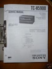 Service Manual Sony TC-H5900 Cassette Deck,ORIGINAL