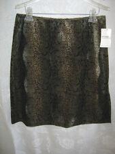 Wrapper Skirt Womens Juniors Size 11 Brown Velvet Snakeskin Print NWT Evening