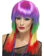 80s Jahre 1980s Damen Rainbow Rocker Lady Kostüm Perücke 80's von Smiffys