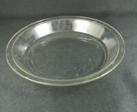 "Vintage Pyrex Pie Pan 209 9"" Clean Edges Clear Glass C-AA"