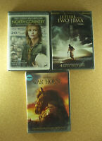 DVD Lot WAR HORSE & NORTH COUNTRY & LETTERS FROM IWO JIMA All New Plastic Sealed