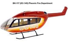 BK-117 EC-145 orange 450 Heli Coque par exemple T-Rex KDS fuselage heliartist