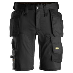 Snickers AllroundWork Stretch Shorts 6141 Black Various Sizes NEW!