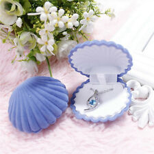 Velvet Shell Jewelry Gift Box Ring Earing Necklace Display Holder Storage Case