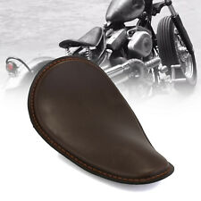 Leather Solo Ergonomic Driver Seat for Harley Sportster 883 1200 XL Bobber Brown