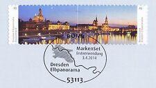 BRD 2014: Elbpanorama Dresden! Selbstklebende Marken Nr. 3073+3074! 1A! 1740