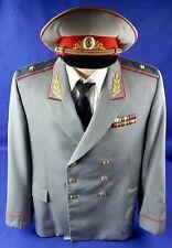 Vintage Soviet Russian Russia USSR Army Police KGB MVD Uniform Coat Visor Hat