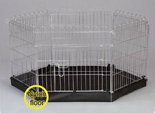 Metal Puppy Play Pen Dog Run  6 sided dog  puppy Pen with Base PZ1015C-S