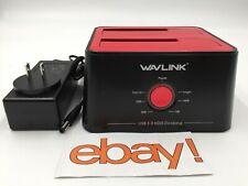 WAVLINK 3 0 SATA Hard Drive 2 5 Docking Station Usb Bay Dual External Duplicator