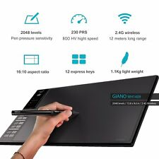 "Huion WH1409 2.4G Wireless USB 14"" Graphics Pen Tablet 12 Keys 8G 2017 Newest"