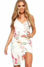 Vestiti da donna bianchi floreale con spalline